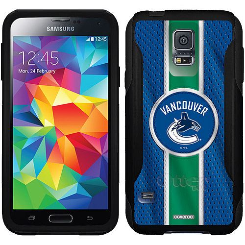 Vancouver Canucks Jersey Stripe Design on OtterBox Commuter Series Case for Samsung Galaxy S5