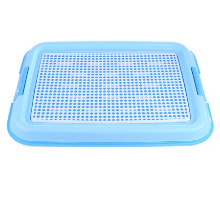 Indoor Pet Dog Toilet Training Pad Plastic Tray Mat Pet Supplies Potty Urine Pad - Blue - Indoor Dog Toilet