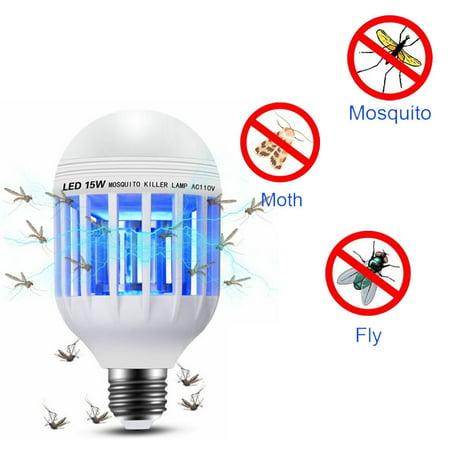 1Pcs Light Zapper LED Light Bulb 2 in 1 Bug Mosquito Fly Insect Killer Bulb Lamp Home