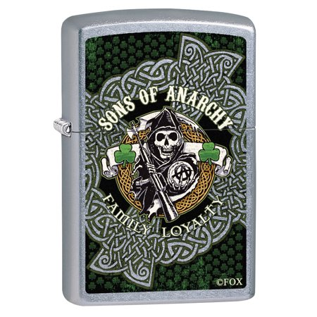 Zippo Lighter: Sons of Anarchy Ireland Shamrocks - Street Chrome 78930 - Walmart.com