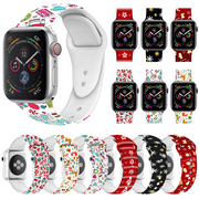 Amerteer Christmas Replacement silicon Wrist Sport Band Strap For Apple Watch Series 5 4