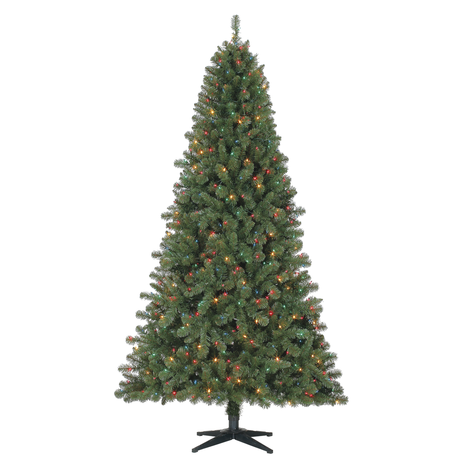 Holiday Time Pre-Lit 7' Duncan Fir Artificial Christmas Tree, Multi-Lights