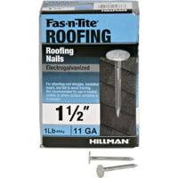"Fas-n-Tite 11 Ga. Electrogalvanized Roofing Nails (1-1/2"") - 1 lb. Box"