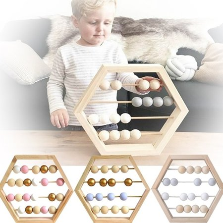 Kids  Learning Abacus Toy , Math Manipulatives Numbers Counting Beads ,Educational Toys For Toddlers , Preschool Boys and Girls 3 Year Olds And Up Gold and Purple