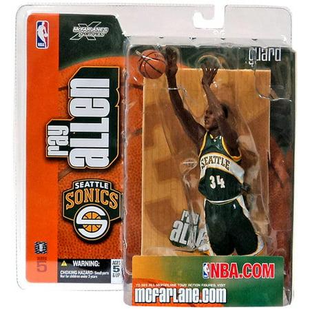 McFarlane NBA Sports Picks Series 5 Ray Allen Action Figure [Green Jersey] (1 Mcfarlane Sports Picks Toys)