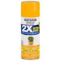 2-Pack Value - Rust-oleum american accents ultra cover 2x gloss golden sunset spray paint and primer in 1, 12 oz