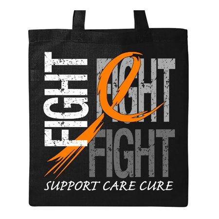Fight- Support, Care, Cure- Leukemia Tote Bag Black One Size