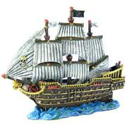 """Blue Ribbon Pet Products Exotic Environments Skull Pirate War Ship Aquarium Ornament 12""""L x 5""""W x 10""""H"""