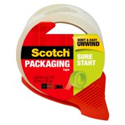 """Scotch Sure Start Tape with Disp., Clear, 1.88"""" x 38.2 yd., 1 Total"""