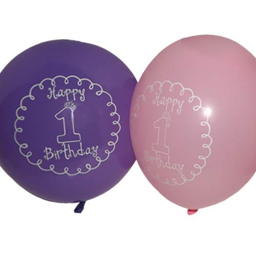 1st Birthday 'Little Princess' Girl Latex Balloons (6ct)