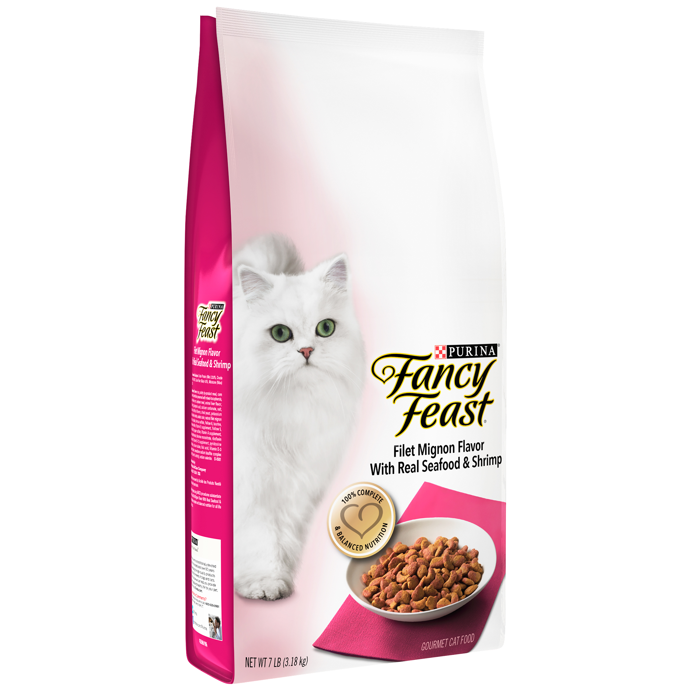 Purina Fancy Feast Filet Mignon Flavor with Real Seafood & Shrimp Cat Food 7 lb. Bag