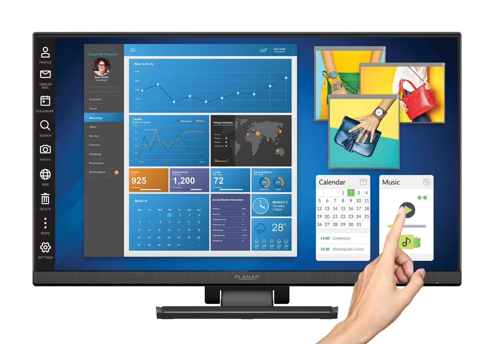 PLANAR SYSTEMS INC 997-7318-01 15IN PLL1500M BLACK ANALOG LED