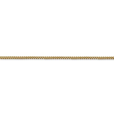 14k Yellow Gold 1mm Franco Chain Anklet Ankle Beach Bracelet 7 Inch : Fine Jewelry For Women Valentines Day Gifts For Her - image 1 de 8