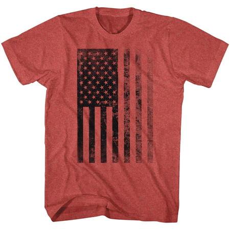 b48fb0ab8419 USA American Flag Red White Blue Stars & Stripes Election Adult T-Shirt Tee  ...