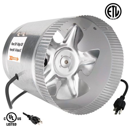 Ipower 6 Inch 240 Cfm Booster Fan Inline Duct Vent Blower