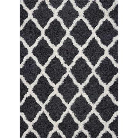 Pierre Cardin Collection Solid/Geometric Design Area Rug Shag Rug High Pile Soft Shaggy Carpets (Size & Colors - Medium Pile Carpet