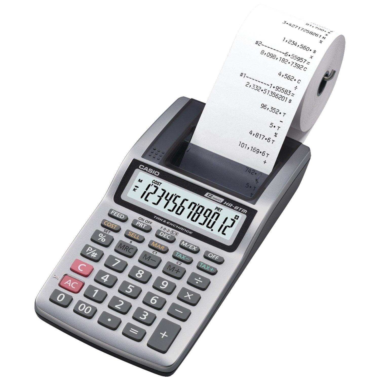 HR-8TM Plus - Handheld Printing Calculator, Printing calculator By Casio