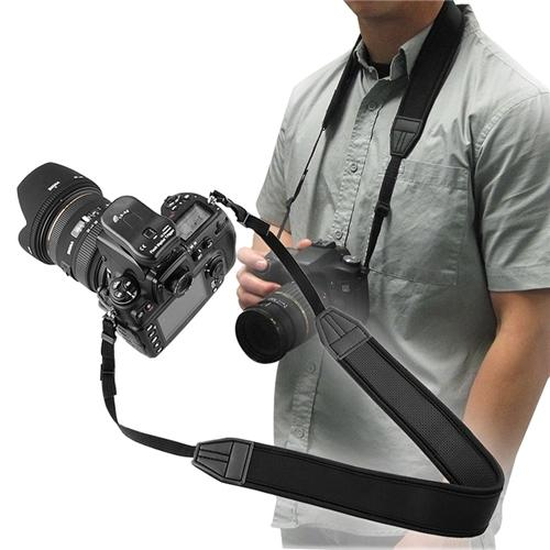 Insten Anti-Slip Weight Reducing Neoprene Camera Neck Strap, 3.5 FT / 1 M, Black