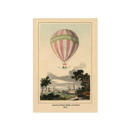 Ascent of James Sadler at Oxford, 1810 Print (Unframed Paper Print 20x30)