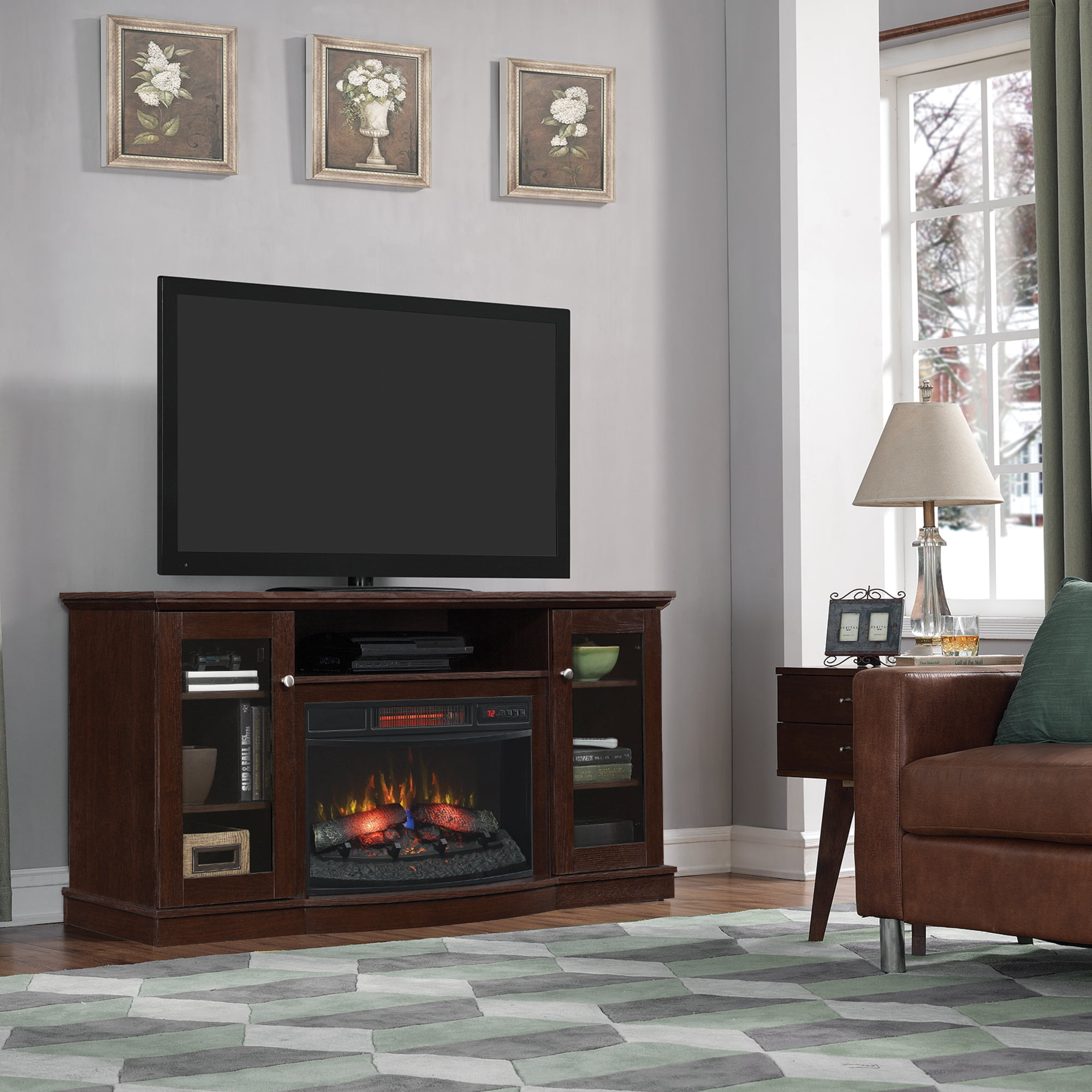 Decor Flame Electric Space Heater Fireplace with 38\