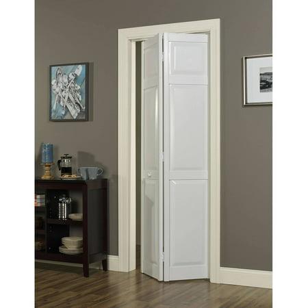 Seabrooke PVC Raised-Panel Bifold Door, White