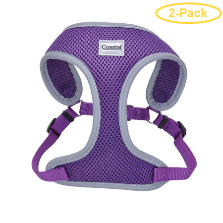 Coastal Pet Comfort Soft Reflective Wrap Adjustable Dog Harness - Purple Small - 19-23 Girth - (5/8 Straps) - Pack of 2