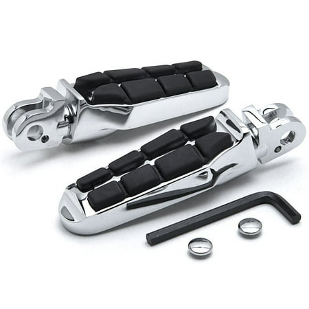Krator Tombstone Motorcycle Foot Peg Footrests Chrome L&R For Triumph Bonneville T100 SE 01-2013 Rear - Tombstones For Sale