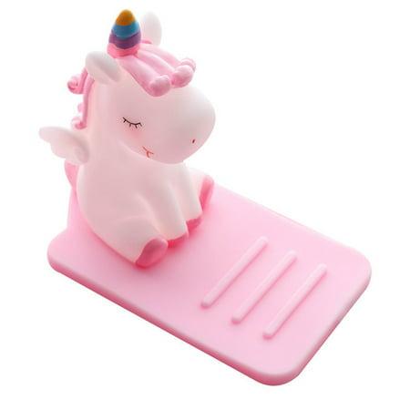 Lazy Cute Unicorn Mobile Phone Holder Meng Car Desktop Adjustable Bracket - image 1 de 6