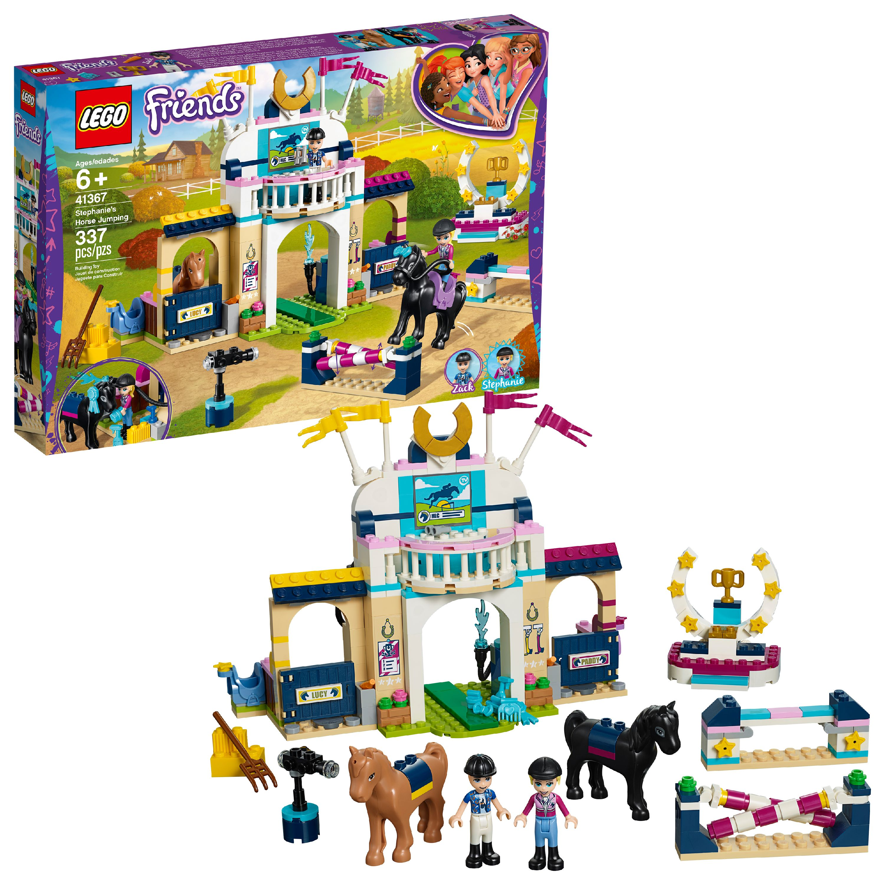 LEGO Friends Stephanie's Horse Jumping 41367 Building Set