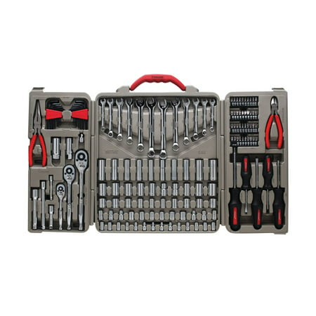 Crescent 148 pc. Assorted Sizes x 1/4, 3/8 and 1/2 in. drive Metric and SAE 6 and 12 Point Mechanic's Tool Set