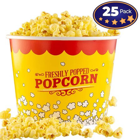 Premium Leak-Free 85 Oz Disposable Popcorn Cup 25 Pack By Avant Grub. Stackable Buckets With Fun Design. Great For Concession Stands, Carnivals, Fundraisers, School Events, Or Family Movie Nights. - Disney Halloween Popcorn Bucket