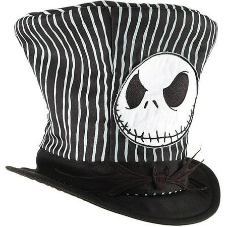 Jack Skellington Top Hat Adult Halloween Accessory](Halloween Hat)