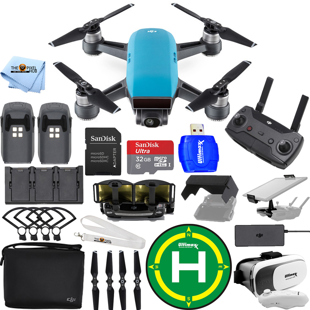 UNASSIGNED DJI Spark Fly More Combo (Sky Blue) EXTREME ACCESSORY BUNDLE