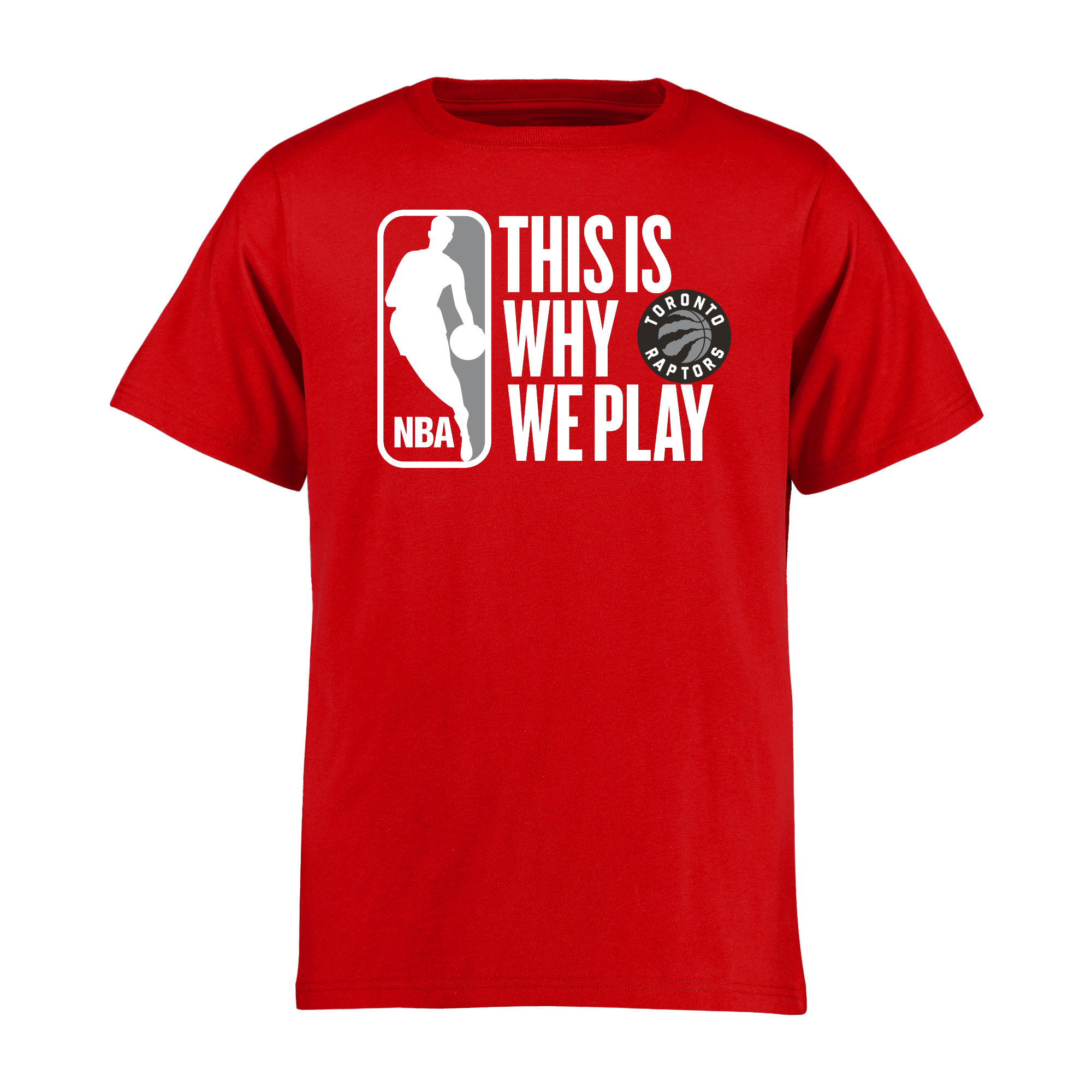Toronto Raptors Youth This Is Why We Play T-Shirt - Red