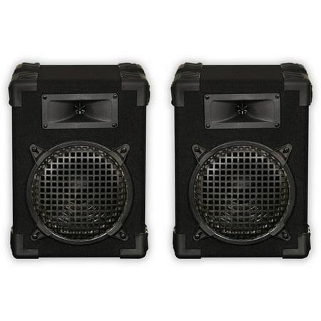 Podium Pro E800C Speaker Pair Home PA DJ Karaoke 8 Bookshelf 400W Two Way