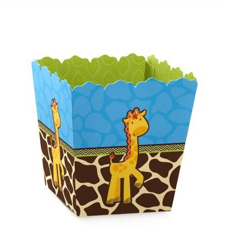 Giraffe Boy - Party Mini Favor Boxes - Baby Shower or Birthday Party Treat Candy Boxes - Set of 12