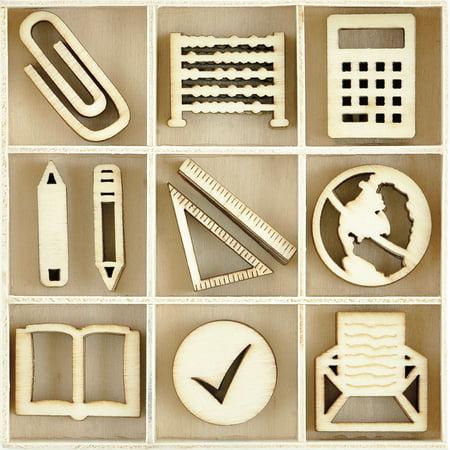 Themed Mini Wooden Flourishes 45/Pkg-Classroom - image 1 of 1
