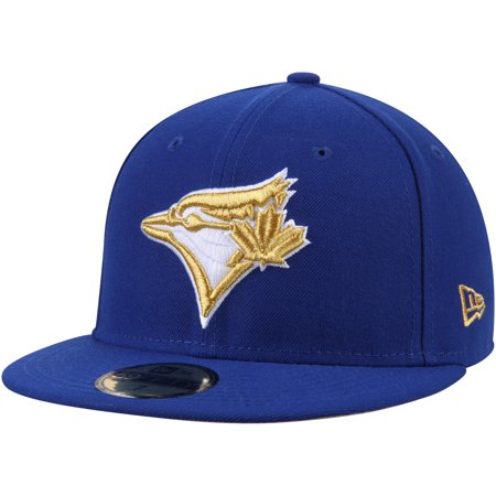 size 40 e3a0f 67684 Men s New Era Royal Toronto Blue Jays Gold City 59FIFTY Fitted Hat -  Walmart.com