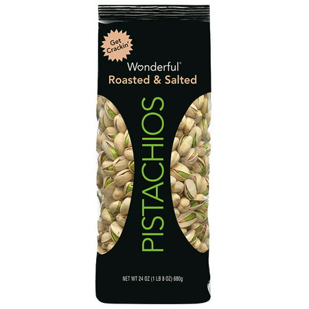 Salted California Pistachios - (3 Pack) Wonderful Pistachios, Roasted & Salted, 24 Oz Pouch
