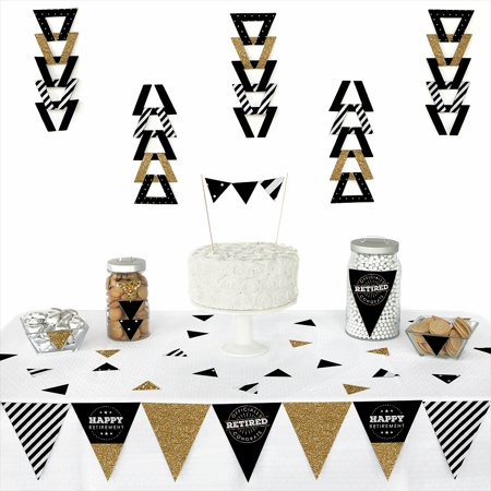 Happy Retirement - Triangle Retirement Party Decoration Kit - 72 Piece