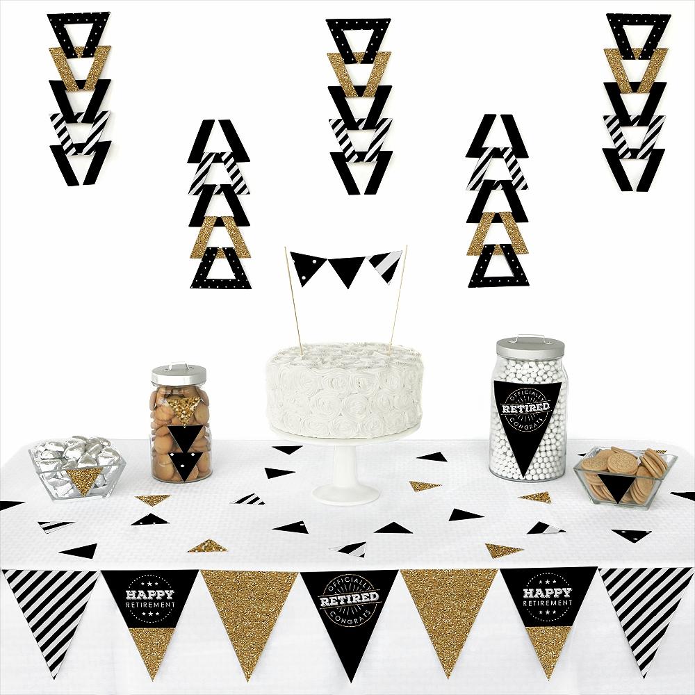 Happy Retirement - Triangle Retirement Party Decoration Kit - 72 Piece