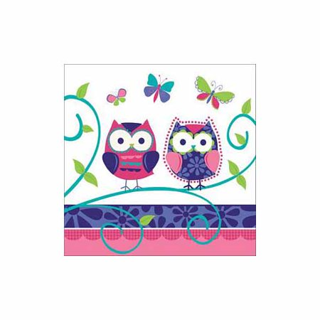 Owl Pal Birthday Luncheon Napkin by Creative Converting - - Owl 1st Birthday