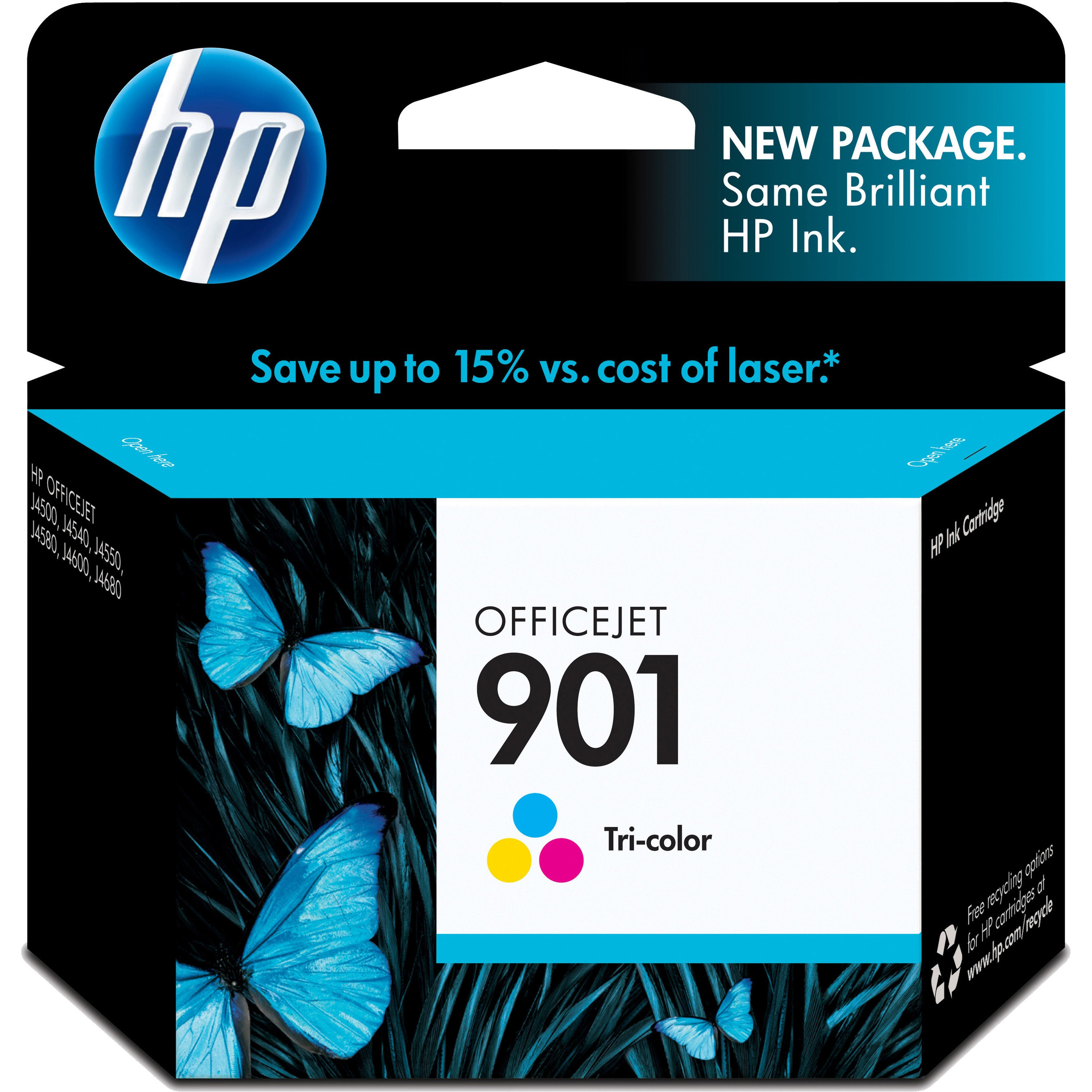 HP 901, (CC656AN) Tri-color Original Ink Cartridge