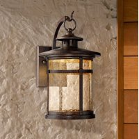 """Franklin Iron Works Callaway 11 1/2"""" High Rustic Bronze Led Outdoor Wall Light"""