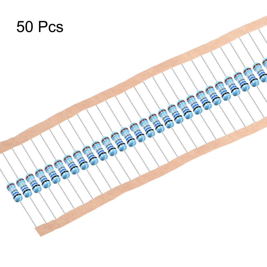 1/2W 0.68 Ohm Metal Film Resistors 0.5W 1% Tolerances 5 Color Bands 50 Pcs - image 2 of 4