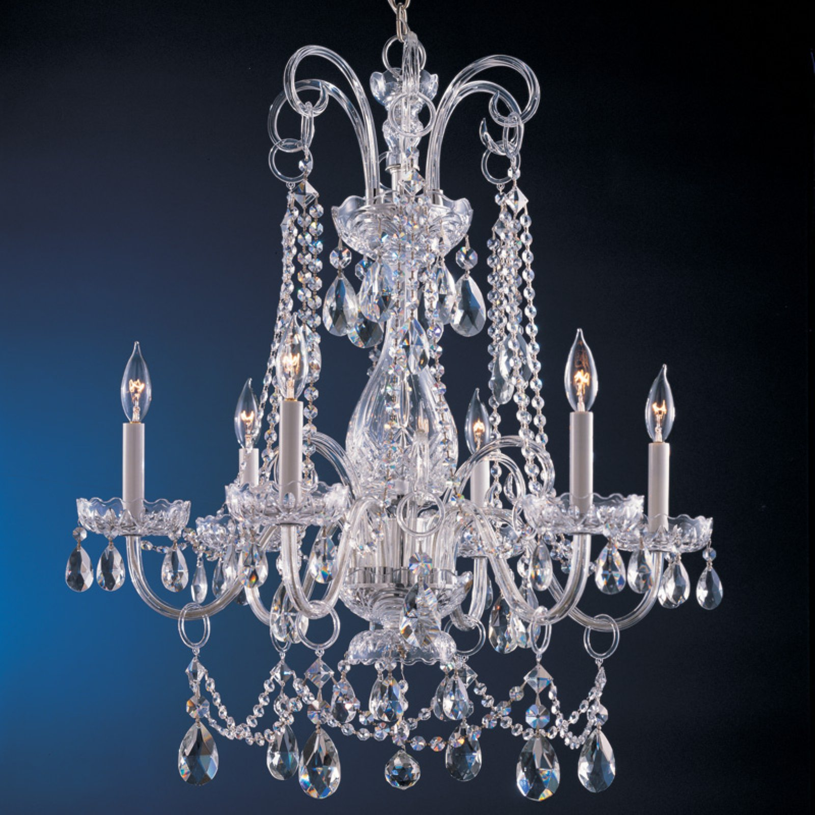 Crystorama 1030-CH-CL-MWP Traditional Crystal Chandelier 28W in. by Crystorama