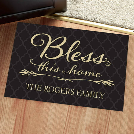 Bless This Home Personalized Oversized Welcome Doormat