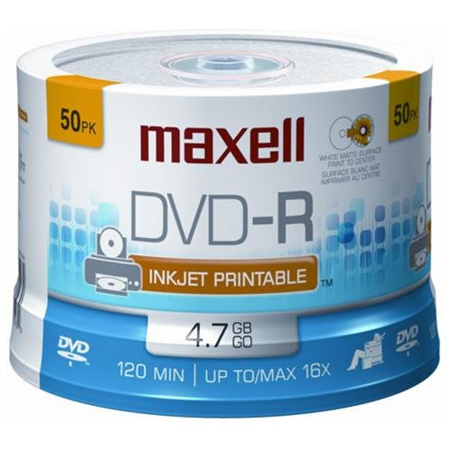 Maxell Dvd-r 50pc 16x Printable (maxell 635129) by Maxell