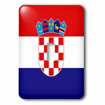 Croatia Coat Of Arms (3dRose Flag of Croatia - Croat red white blue stripes - Croatian coat of arms shield - Europe country world, Double Toggle Switch )