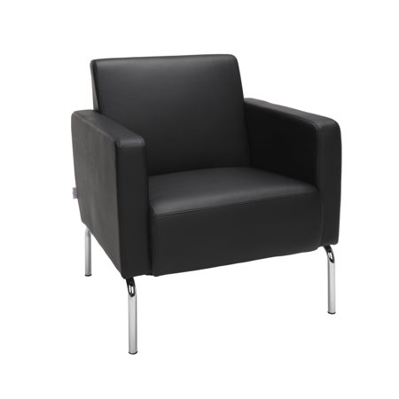 OFM Triumph Series Model 3002 Polyurethane Modular Lounge Chair with Arms, Black